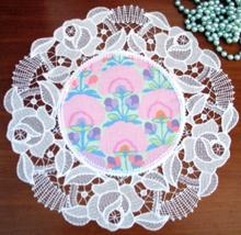 FSL Battenberg Rose Lace Doily