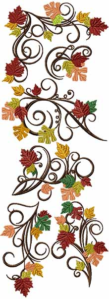 Autumn Branches Set of 6 Machine Embroidery Designs