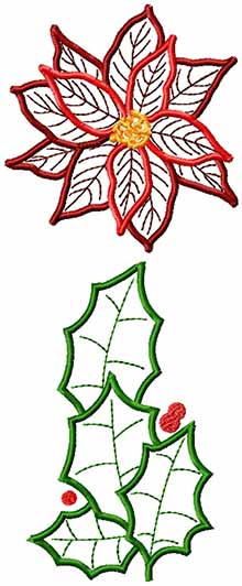 Christmas Garland Applique Set