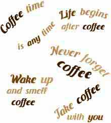 Coffee Quotes Set