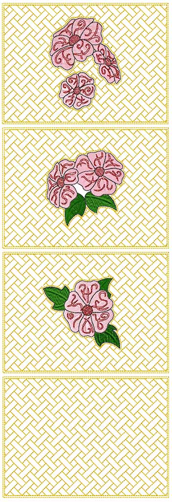 Quilted-in-the-Hoop Primrose Panel Set