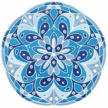 Blue Mandala Machine Embroidery Design