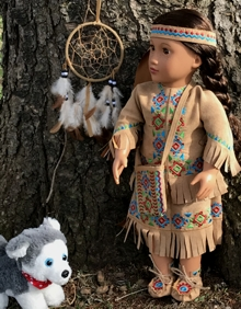 Native American Inspired Complete Outfit for 18 inch Dolls