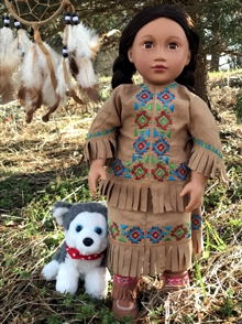 Native American Inspired Tunic and Skirt for 18 inch Dolls