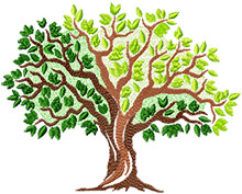 Summer Tree Machine Embroidery Design