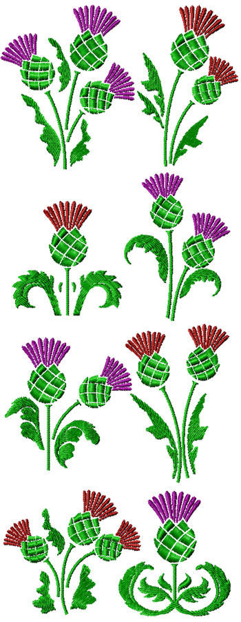 Decorative Thistle Set