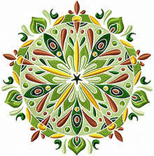 Floral Mandala Machine Embroidery Design