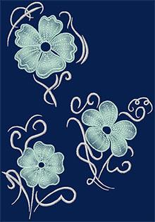 Swirl and Flower Set.