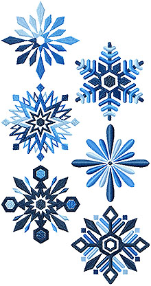 Shades of Winter Snowflake Set