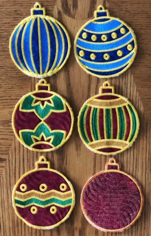 Christmas Ornament Coasters In-the-Hoop (ITH)