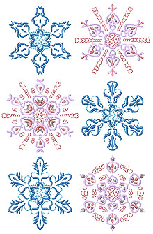 Hearts and Flowers Snowflake Set