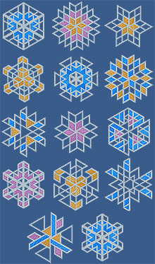 Geometric Snowflake Set