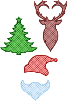Applique Christmas Silhouette Set