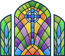 Stained Glass Window Machine Embroidery Design