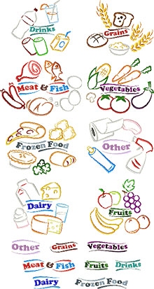 Grocery Bag Label Set