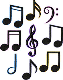 Musical Note Set of 10 Machine Embroidery Designs