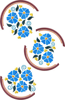 Screen shot of spring flowers embroidery designs