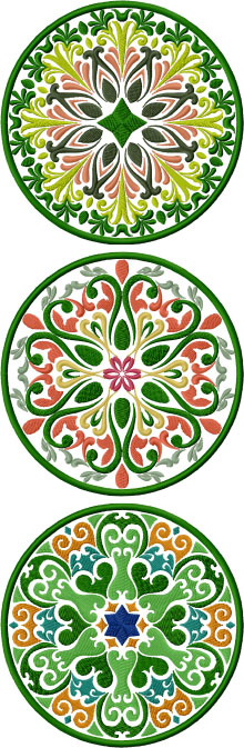 Floral Mandala Coasters In-the-Hoop (ITH)
