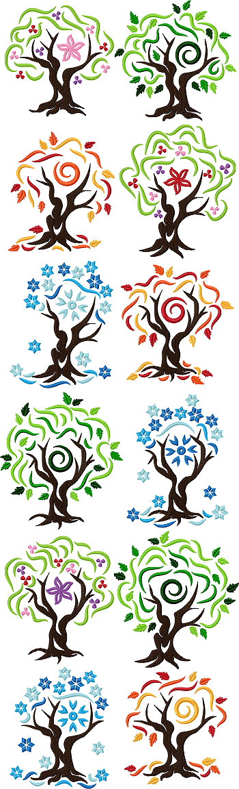 Four Seasons Tree Set