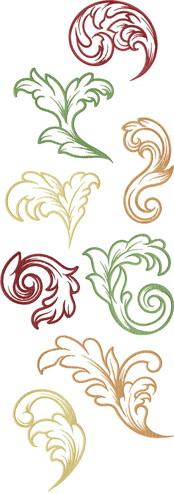 Acanthus Leaf Set