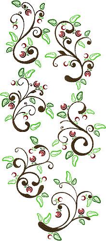 Art Nouveau Branch Set of 6 Machine Embroidery Designs