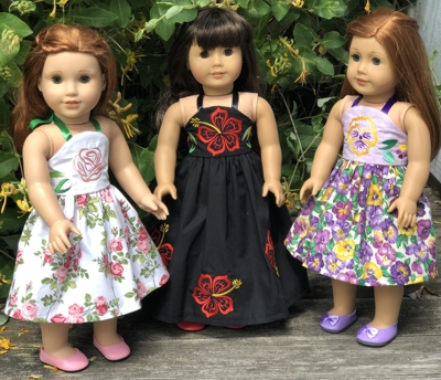 Halter-Top Dresses for 18-inch Dolls
