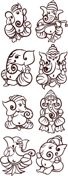 Ganesha Decorative Set