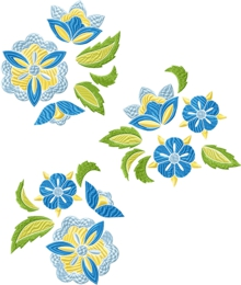 Screen shot of decorative flower embroidery designs
