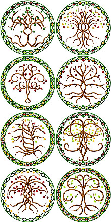 Celtic Tree of Life Motif Set