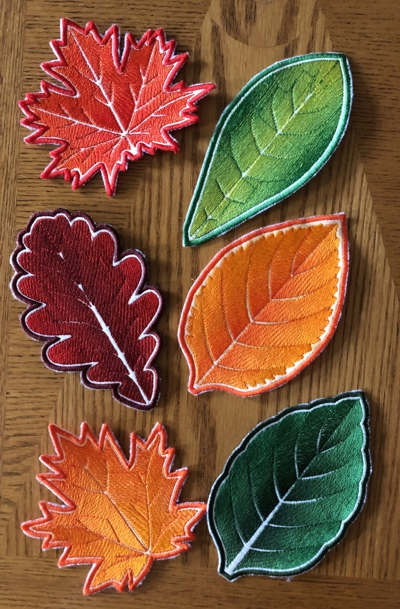 Autumn Leaf Coasters In-the-Hoop (ITH)