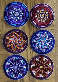 Stained Glass Flower Coasters in-the-Hoop (ITH) II