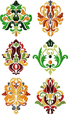 Heraldic Motif Set II of 6 Machine Embroidery Designs