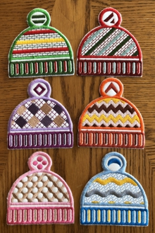 Knit Hat Coasters In-the-Hoop (ITH)