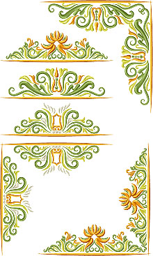 Golden Vine Border Set