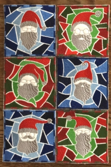 Santa Coasters In-the-Hoop (ITH)