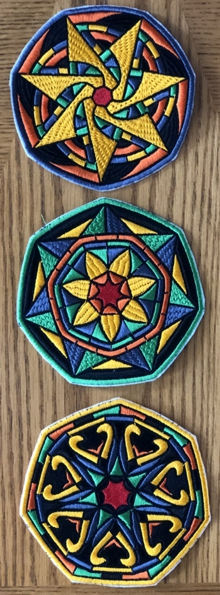 Stained Glass Flower Coasters in-the-Hoop (ITH) III