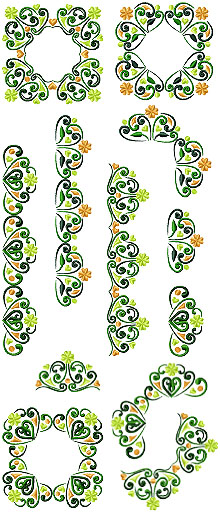 Shamrock Border Set