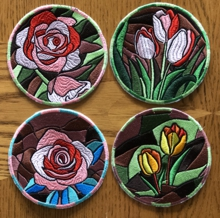 Mosaic Flower Coasters In-the-Hoop (ITH)