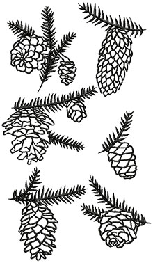 One-Color Pine Cone Set