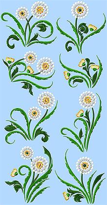 Dandelion Set of 8 Machine Embroidery Design