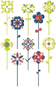 Flower Embellishment Set of 10 Machine Embroidery Designs