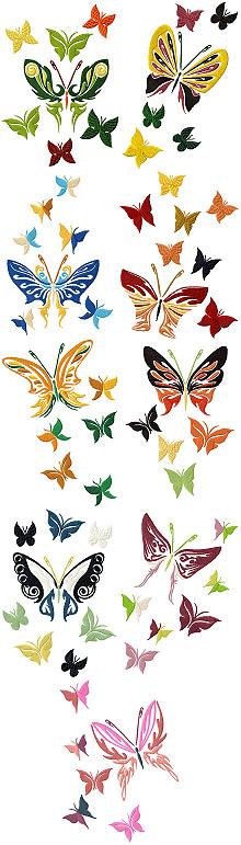 Butterfly Set of 9 Machine Embroidery Design