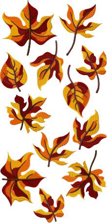 Fall Leaf Set of 12 Machine Embroidery Designs