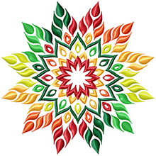 Fall Star Machine Embroidery Design