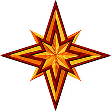 Star of Bethlehem Machine Embroidery Design