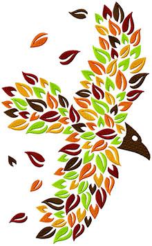 Autumn Raven Machine Embroidery Design
