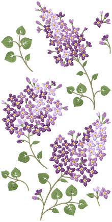 Lilac Set Machine Embroidery Design