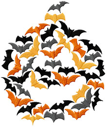 Bat-o-Lantern Machine Embroidery Design