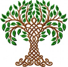 Celtic Tree of Life Machine Embroidery Design