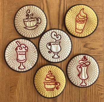 Coffee Coasters In-the-Hoop (ITH)